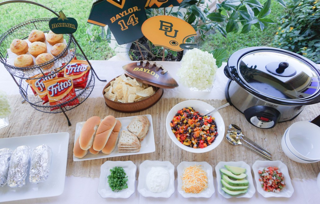 Football Watch Party Chili Bar Thoughtfully Styled