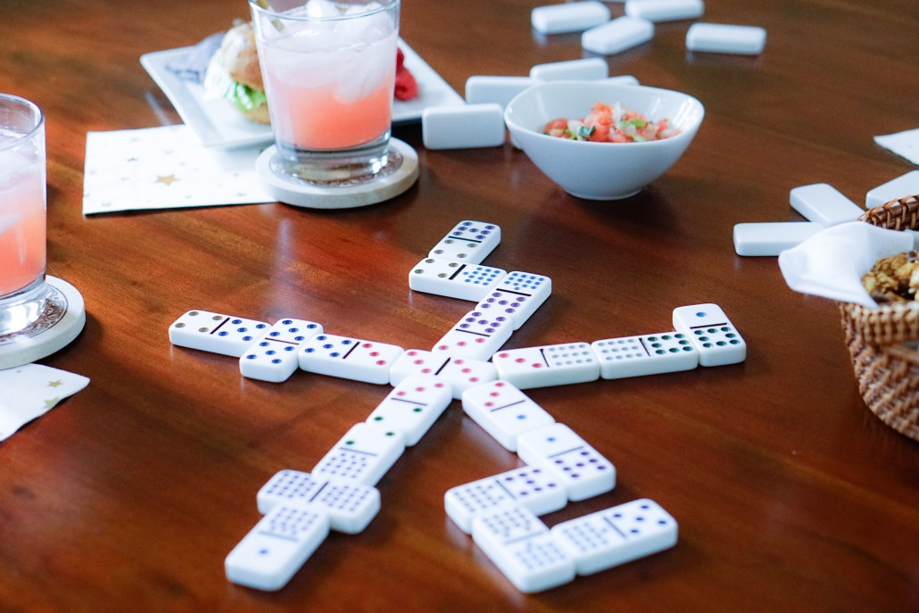 Game Night Dominoes Thoughtfully Styled