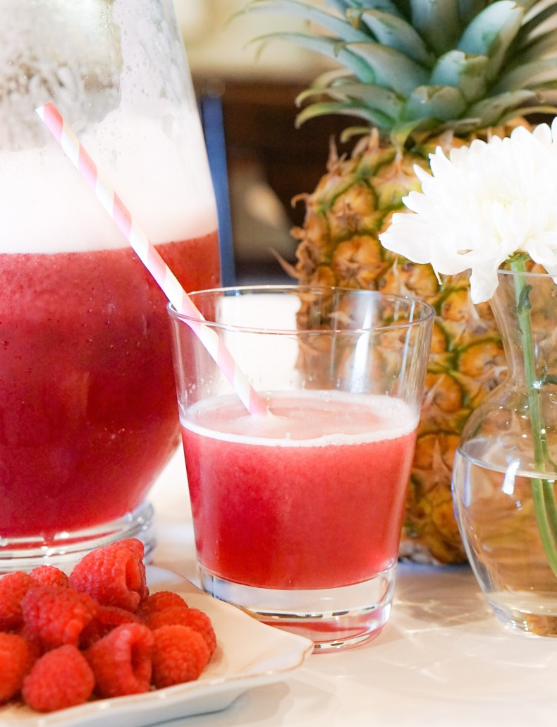 Raspberry pineapple punch   thoughtfully styled