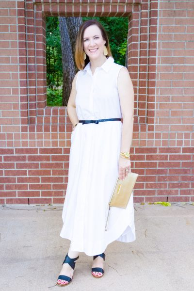 summer shirtdress summer style white dress ann taylor