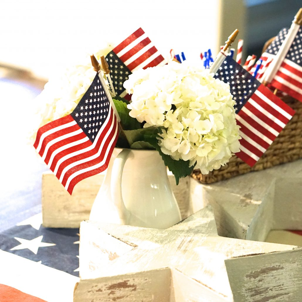 fourth of july decor red white and blue americana freedom independence day