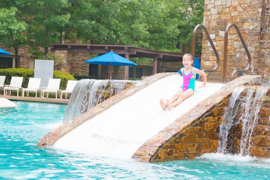 family staycation the woodlands resort summer trip kid friendly hotel pool