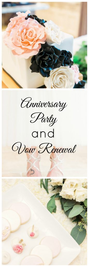 ANNIVERSARY PARTY AND VOW RENEWAL party decor elegant pretty fancy party