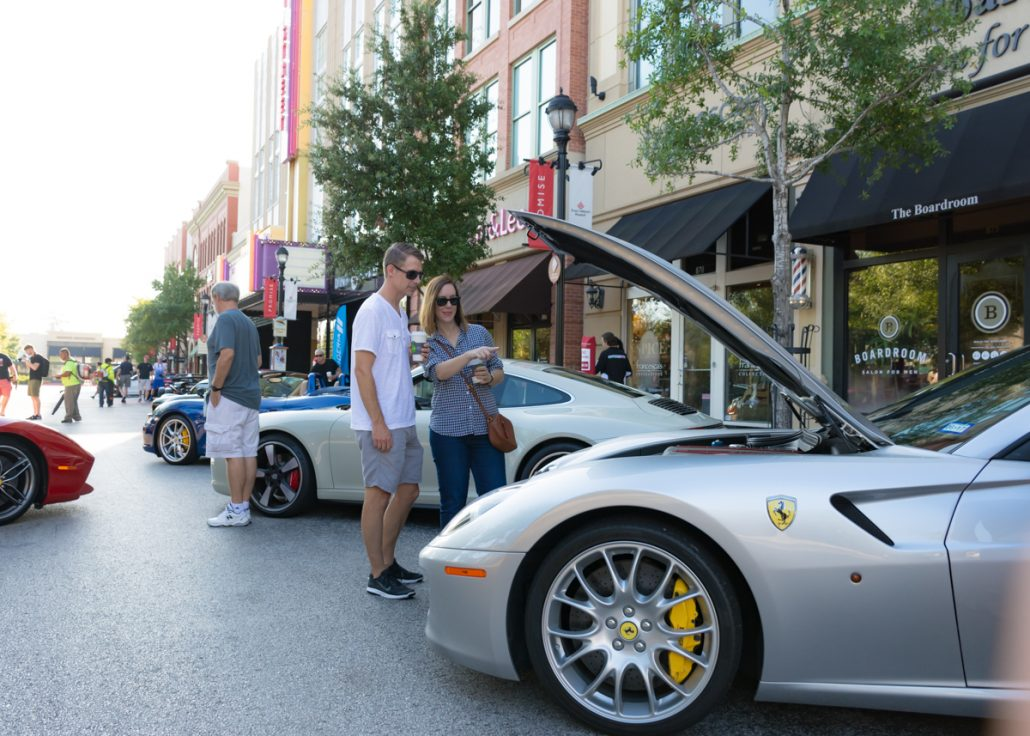EXOTICS ON MARKET STREET car show scuderia society the woodlands