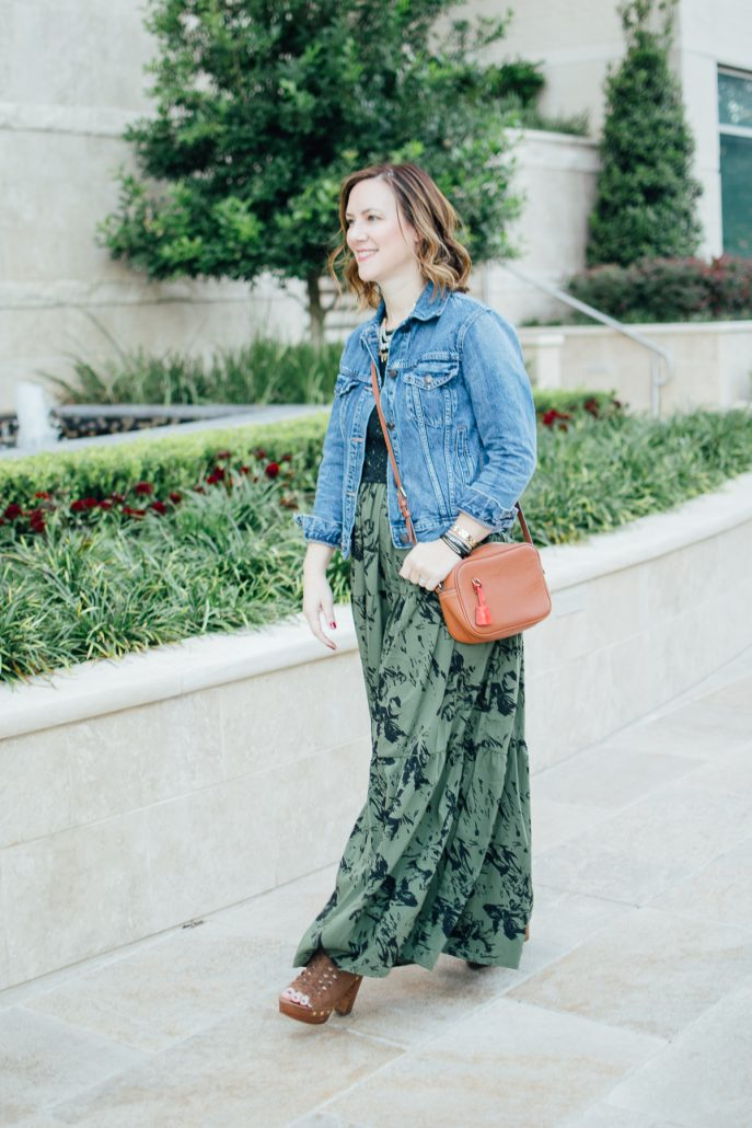 ONE DRESS TWO WAYS maxi dress fall fashion blogger style