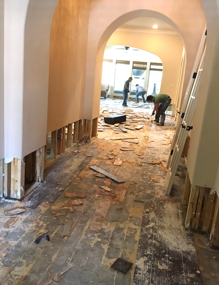 flooded house fixer upper remodel