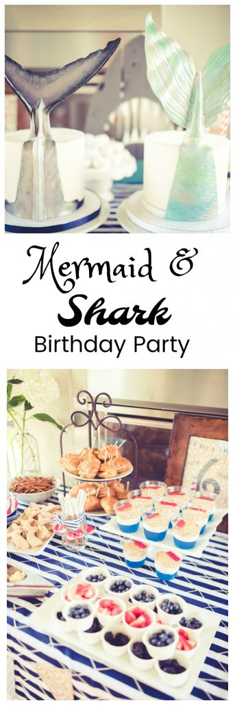 Mermaid and Shark party twin birthday party party planning