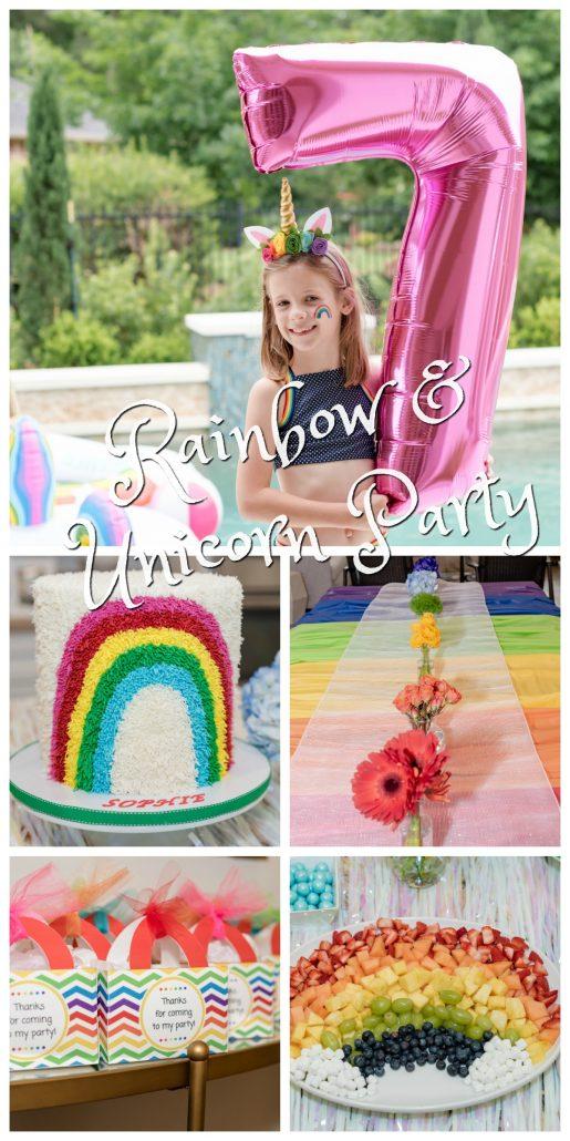 Rainbow and Unicorn Party Thoughtfully Styled