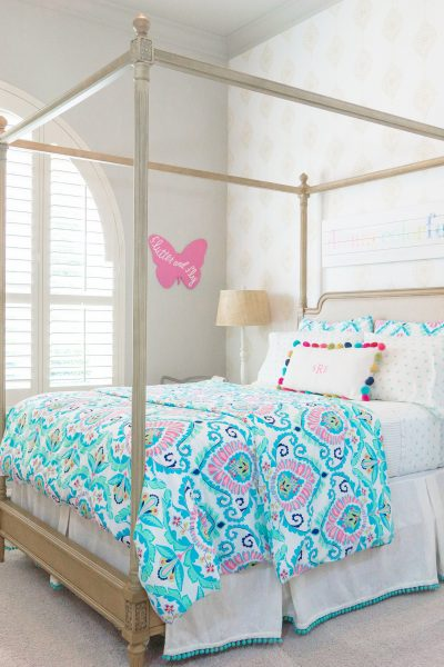 Colorful and bright big girl bedroom reveal! Thoughtfully Styled
