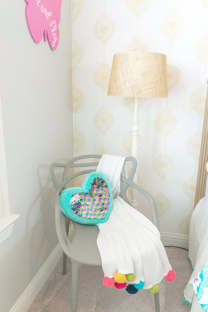 Colorful and bright big girl bedroom reveal Thoughtfully Styled