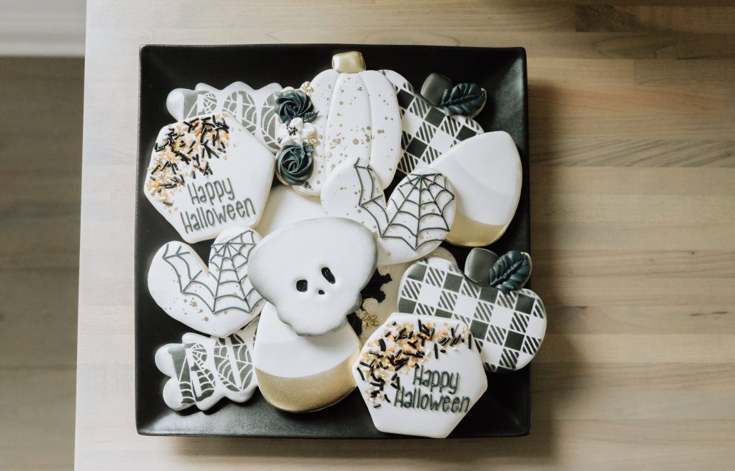 Not So Spooky Halloween Décor Thoughtfully Styled Halloween Décor Fall Décor Neutral Halloween Décor Custom cookies